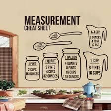 Kitchen Measurement Cheet Sheet Bundle Wall Sticker Kitchen Dinning Room Mason Jar Conversion Chart Wall Decal Vinyl Home Decor Wall Stickers Aliexpress