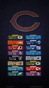 chicago bears 2019 schedule 2160x3840