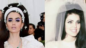 Lily Collins Channels Priscilla Presley on Her Wedding Day to Elvis at Met  Gala 2019 | Vogue