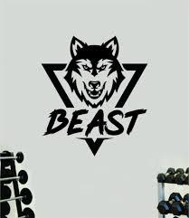 Beast Wolf Wall Decal Home Decor Art Vinyl Sticker Quote Bedroom Teen Boop Decals