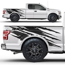 Ford F 150 2017 2019 Vinyl Side Decal Wrap Kit 4x4 Ripped Factory Crafts