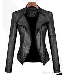 2020 autumn women black faux leather