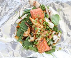 Grilled Asian Salmon Foil Packets