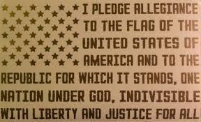 American Flag Pledge Of Allegiance Vinyl Decal Truck Window Usa Flag Decal Rainbowlands Lk