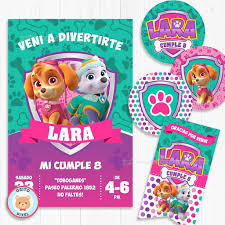 Kit Imprimible Skye Y Everest Paw Patrol Patrulla Canina 350