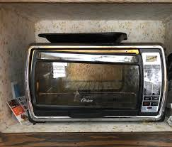 polished stainless steel toaster oven