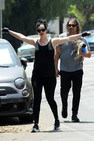 Krysten Ritter out for a workout hike with Adam Granduciel and their pooch  in Los Angeles