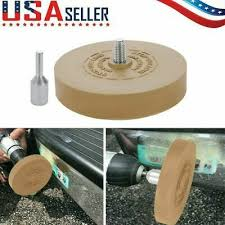Decal Remover Rubber Eraser Wheel Adhesive Remover Tool W Drill Adapter Yellow In 2020 How To Remove Adhesive Eraser Adhesive