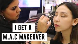 i get a makeover at m a c you