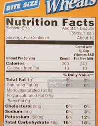 frosted mini wheats nutrition facts