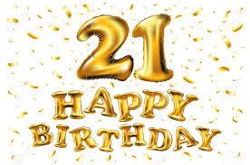 Feliz Cumpleanos 21 Anos Aniversario Alegria Celebracion