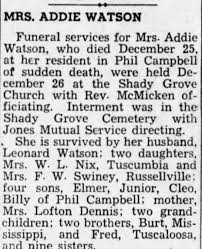 Obituary for WATSON - Newspapers.com