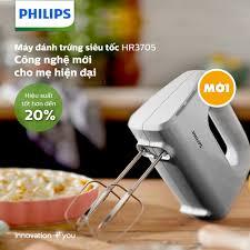 MÁY ĐÁNH TRỨNG SIÊU TỐC HR3705 CÔNG... - Philips Home Living - VN
