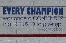 Sports Quotes Wall Decals Rocky Balboa Quotation Every Champion Was Once A Contender Customvinyldecor Com