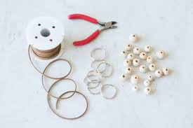 diy wooden bead keychain the sweetest