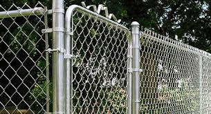 A Finished Chain Link Fence With Gate Chain Link Fence Gate Chain Link Fence Building A Fence