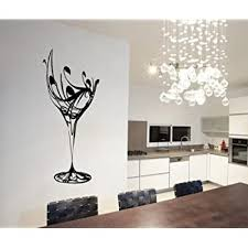 Colorfulhall 23 6 X 40 2 Black Abstract Elegant Wine Glass Wall Decal Kitchen Wall Sticker Removable Vinyl Kitchen Decoration Amazon Com