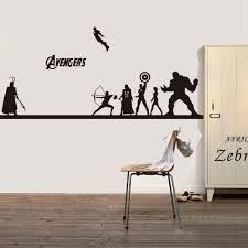 Creative Diy The Avengers Wall Sticker Iron Man Hulk Captain America Avengers Wall Art Decal Avengers Bedroom Decor Avengers Wall Art Creative Wall Art