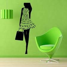 Girl Wall Decal Top Model Shopping Time Beauty Salon Wall Decor Fashion Vinyl Sticker Home Decor Vinyl In 2020 Girls Wall Decals Girls Room Wall Decor Sticker Wall Art