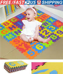 Alphabet Foam Puzzle Floor Mat Kids Play Numbers Letters Number Jigsaw Tiles Abc For Sale Online Ebay