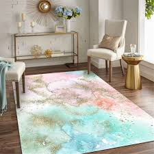 Girl Bedroom Fashion Abstract Colorful Rug Kitchen Rug Kid Room Rug Nordic Style With Fresh Pink Blue Bed Headrest Carpet Aliexpress