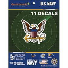 U S Navy Military Car Auto Sticker Decal Value Pack 11 Decals For Truck Laptop Vehicle Walmart Com Walmart Com