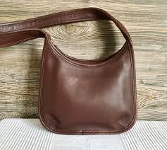 hobo shoulder bag brown leather purse