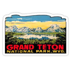 Grand Teton National Park Vintage Travel Decal 2 Sticker By Hilda74 Grand Tetons Tetons Grand Teton National Park