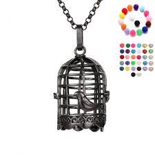 antique silver birdcage locket pendant