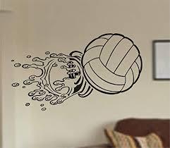 Amazon Com Dabbledown Decals Volleyball Splashing Through Wall Vinyl Wall Decal Sticker Art Sports Kid Children Ball Nursery Boy Teen Homerun Everything Else