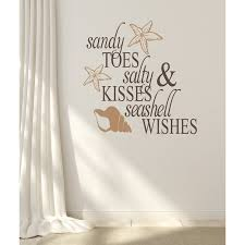 Winston Porter Sandy Toes Salty Kisses Beach Vinyl Wall Decal Reviews Wayfair