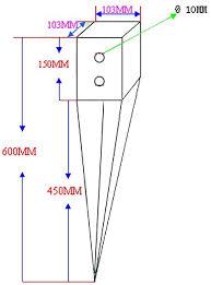 4 100mm Heavy Duty Galvanised Fence Post Spike 4 Amazon Co Uk Diy Tools