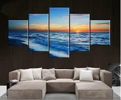 5 pieces modern landsacape painting