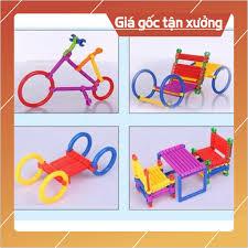GIÁ SỈ TOÀN QUỐC] Bộ đồ chơi xếp hình lắp ráp que sáng tạo cho bé