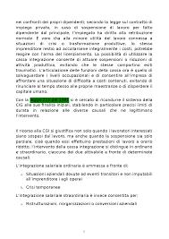 LA CASSA INTEGRAZIONE - Docsity