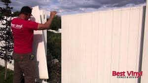Vinyl Fence Section Repair Youtube