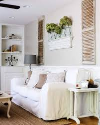 wall decor shutter above couch