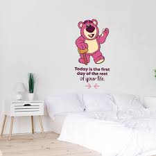 Design With Vinyl Toy Story Bear First Day Vinyl Wall Decal Wayfair