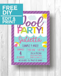 Pool Party Invitations Fiestas En La Piscina Fiesta En La