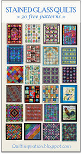 free pattern day stained glass quilts