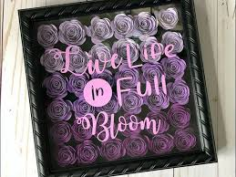 3d paper flower shadow box with cricut