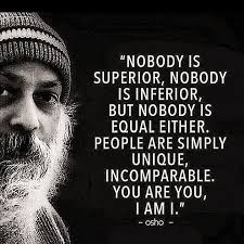 osho chandra mohan jain people quote image nobody is superior