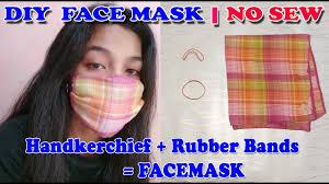 No Sew DIY Face Mask Made of ...