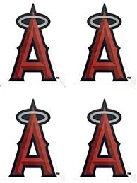 Amazon Com Mlb 4 Los Angeles Angels Team Logo Stickers Set Individual Official Major League Baseball Helmet Emblems Of Anaheim La California Sports Outdoors