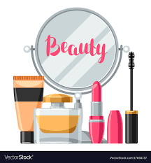 makeup background for vector image