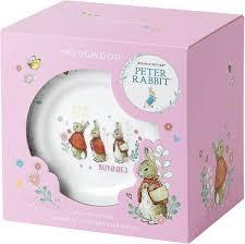 peter rabbit kinderservies 3 delig roze