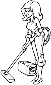 Signspecialist Com Beevault Decals Pretty Girl And Vacuum Cleaner Vinyl Decal Customize On Line Cleaning 023 0125