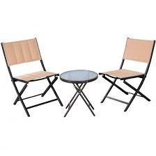 giantex 3pcs patio folding table chairs