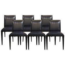 holly hunt sti leather dining chairs