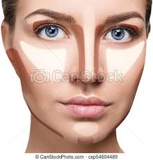 highlight makeup young woman